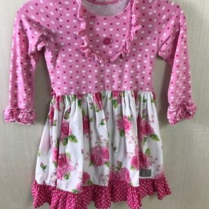 Eleanor Rose girls hearts floral long sleeve 6-7